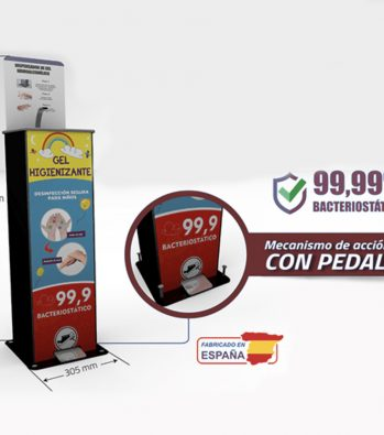 Dispensador de gel higienizante infantil