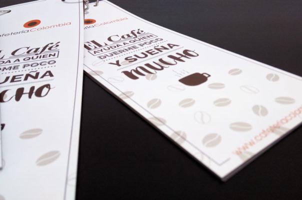 Diseño Cartas Baza - Cafeteria Colombia